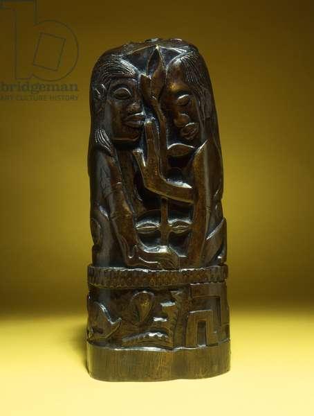 Hina and Te Fatou, (bronze with brown patina)