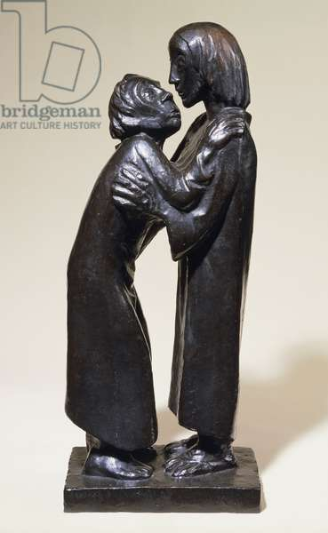 The Reunion; Das Wiedersehen, 1926 (bronze with dark brown patina)