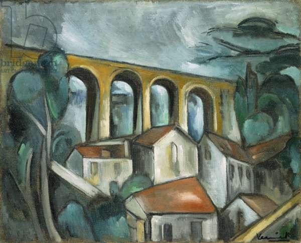 The Viaduct; Le Viaduc, (oil on canvas)