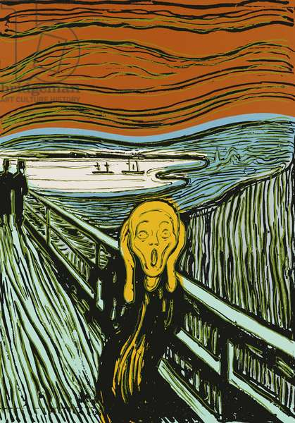 The Scream' after Edvard Munch', 1984 (silkscreen on canvas)