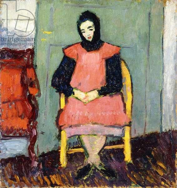 Girl in Yellow Chair, 1906-07 (oil on board)