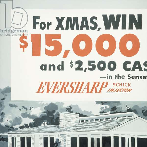 Win a New House This Christmas (Contest), 1964 (oil on canva)