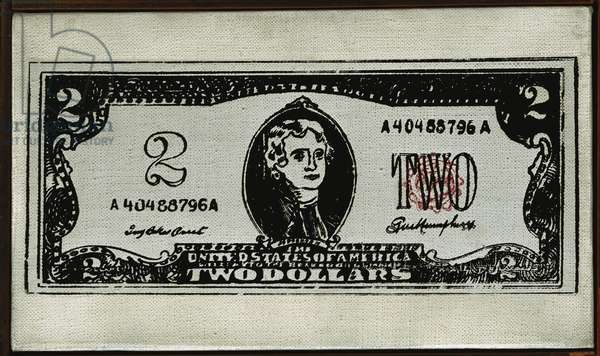 Two Dollar Bill, 1962 (synthetic polymer silkscreened on canvas)