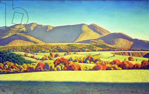 Kelly's Basin, Jay Mountain, Adirondacks (oil on canvas)