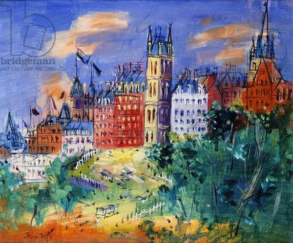 View of Edinburgh; Vue d'Edinburgh, (oil on canvas)