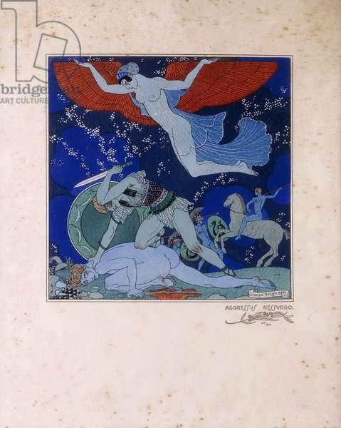 Aggressus Ressurgo, 1918 (colour etching)