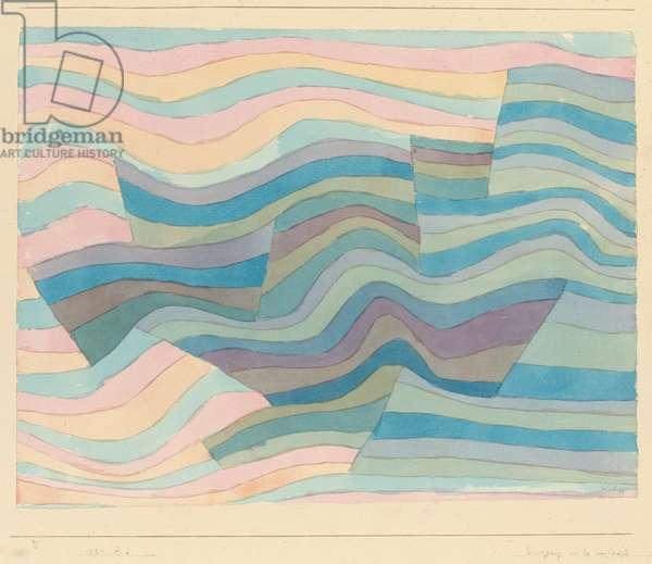 Bewegung an der Steilkuste, 1929 (w/c & pencil on paper)