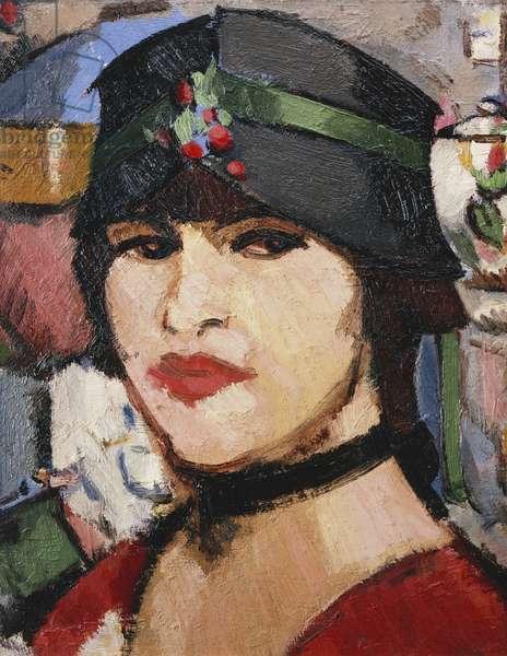 The Cloche Hat, 1916 (oil on board)
