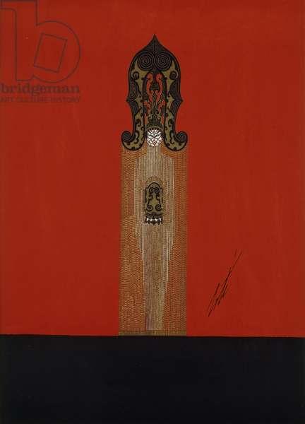 Mah-Jongg, c.1924 (gouache on paper)