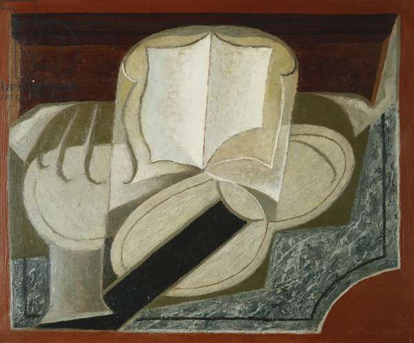 Books and Guitar; Le Livre et la Guitare, 1925 (oil on canvas)