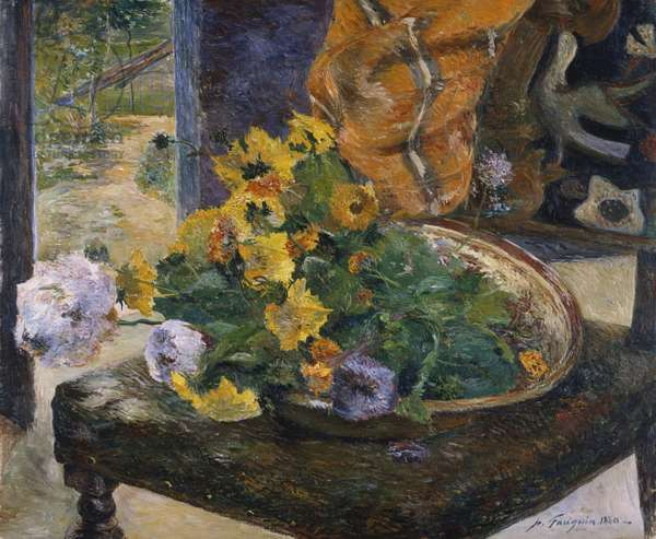To Make a Bouquet, 1880 (oil on canvas)