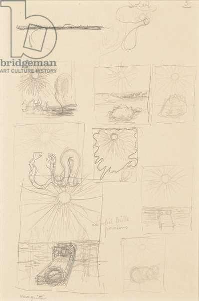 Etudes pour l'au-delà, c.1938 (pencil on paper)
