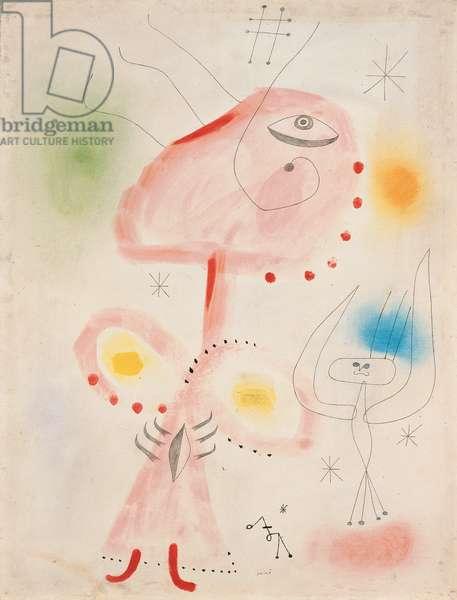 To the Ladder of Escape; Vers l'echelle de l'evasion, 1942 (gouache, pastel, watercolour and pencil on paper)
