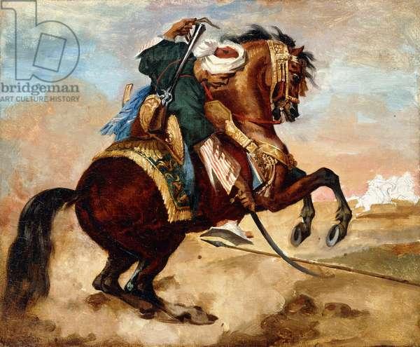 Turk Riding a Brown Alezan Horse, c.1810 (oil on canvas)