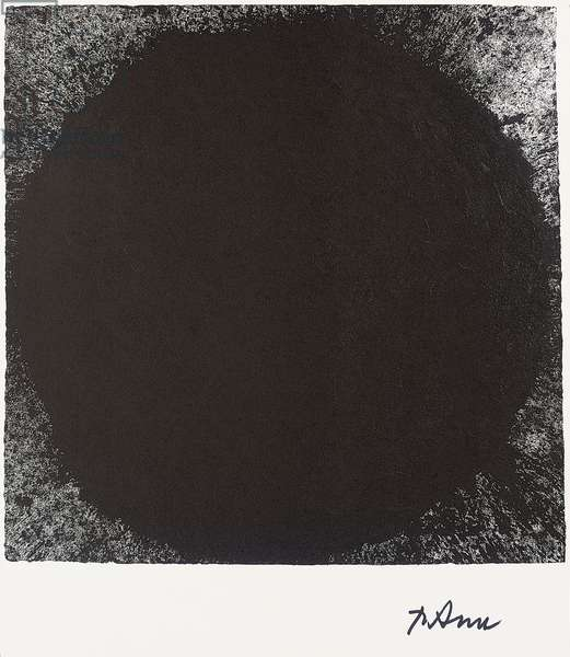 Out of Round X, 1999 (Novation printing (duo-tone with paint) on heavy Tintoretto-gesso paper)