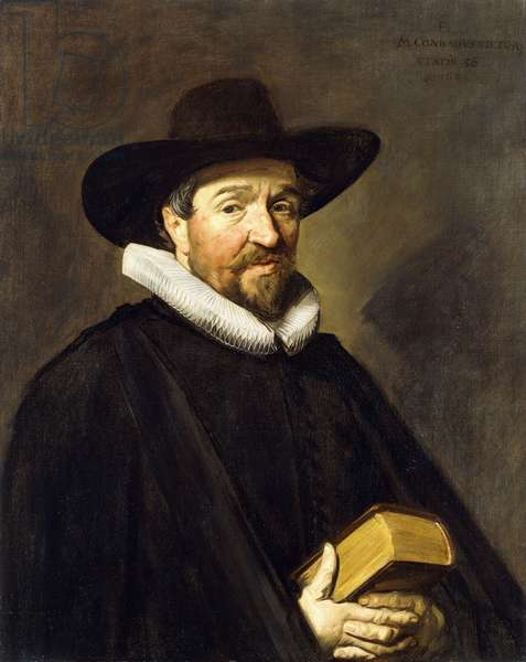 Portrait of Conradus Vietor (1588-1657), aged 56, half-length, wearing a Black Costume and a Hat,  (oil on canvas)