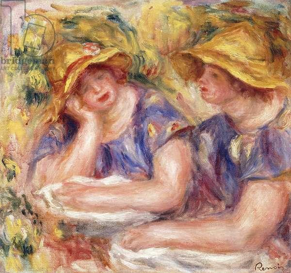 Two Women in Blue Dresses (The Two Sisters); Deux Femmes en Corsage Bleu (Les Deux Soeurs), 1919 (oil on canvas)
