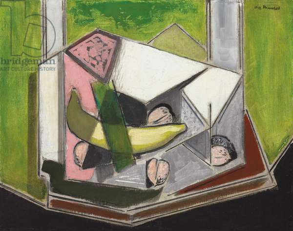 Cubist Still Life  (oil on board)