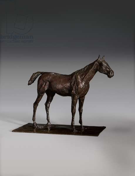 Standing Horse (bronze with brown patina)