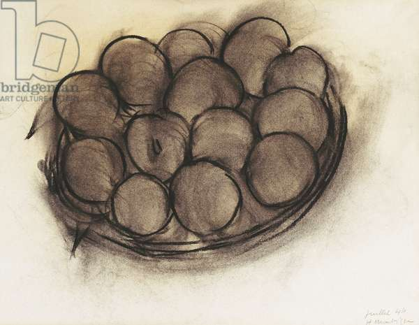 Still Life of Apples; Nature Morte aux Pommes, 1944 (charcoal on paper)
