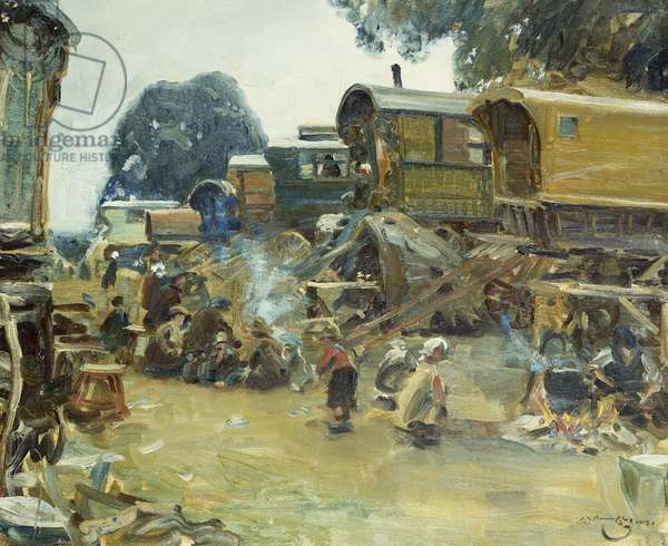 Gypsy Camp, 1913 (oil on canvas)