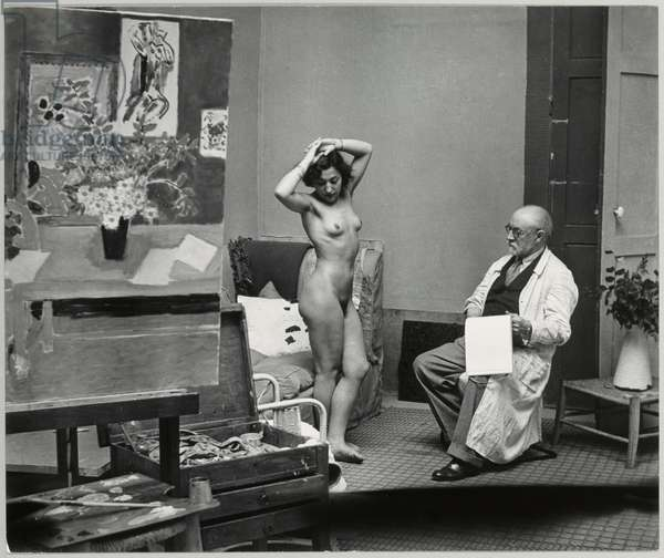 Matisse with his model, 1939, printed 1950s (gelatin silver print)