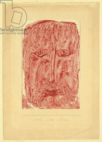 A Man of Sorrows; Ein Mann der Schmerzen, 1933 (coloured paste on paper)