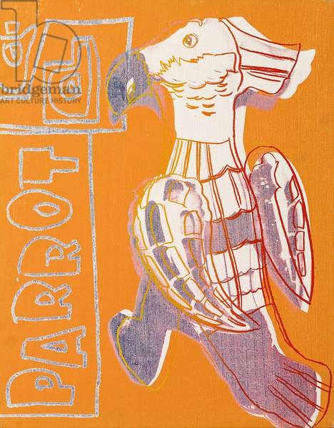Parrot, 1983 (synthetic polymer paint and silkscreen inks on canvas)