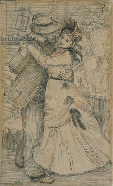 Countryside Dance, 1883 (pencil heightened with red chalk on paper)