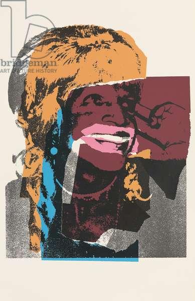 Ladies and Gentlemen (Marsha P. Johnson) (F. & S. II.128-137), 1975 (screenprint)