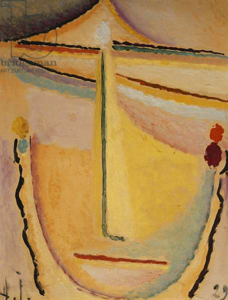 Pink-Orange; Rosa-Orange, 1929 (oil on paper laid down on by the artist on board)