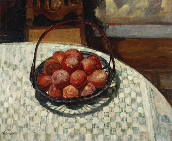 The Basket of Fruit; Le Corbeille de Fruit, (oil on canvas)