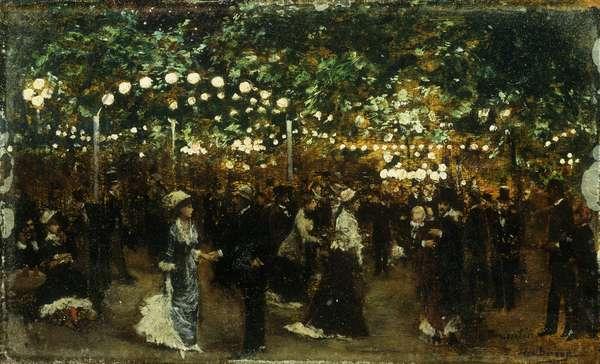 Le Bal Mabile (oil on panel)