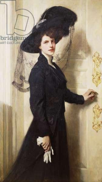 Portrait of Mrs Barker-Ogden (oil on canvas)