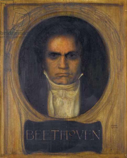 Portrait of Ludwig van Beethoven (oil on panel)