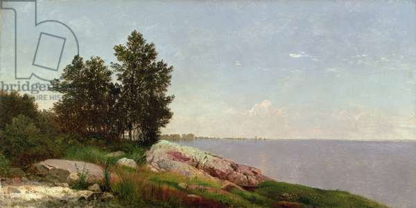 Long Island Sound at Darien (oil on canvas)