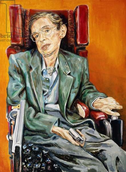 Portrait of Stephen Hawking, 1992-3 (oil on canvas)