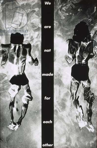 We Are Not Made For Each Other, 1983 (black and white photograph in artist's frame)