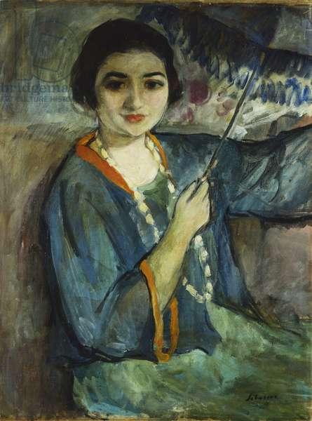 Nono with Umbrella; Nono a l'Ombrelle, (oil on canvas)