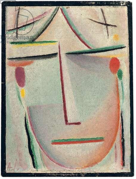 Abstract Head; Abstrakter Kopf, c.1921 (oil on panel)