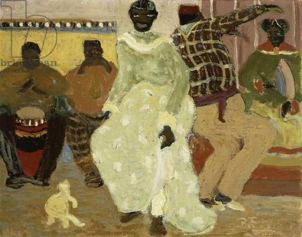 Candombe, (oil on board)