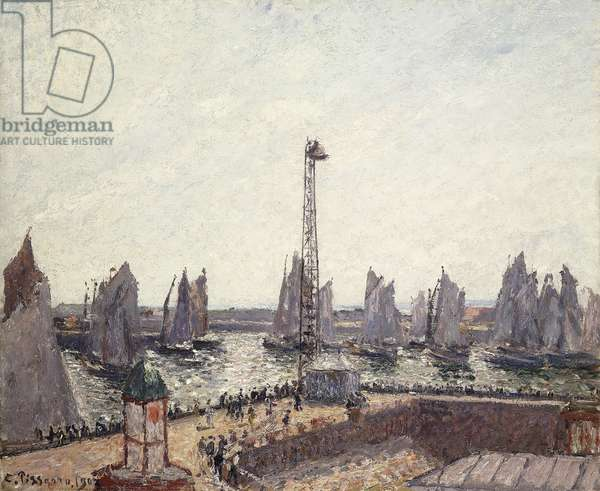 Outer Harbour and Cranes, Le Havre; Avant-port et Anse des Pilotes, Le Havre, 1903 (oil onn canvas)