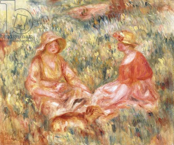 Two Women in the Grass, c.1910 (oil on canvas)