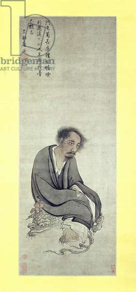 The Immortal Ge Changgeng sitting on his Three-legged Toad, 1506-10 (ink and colour on paper)