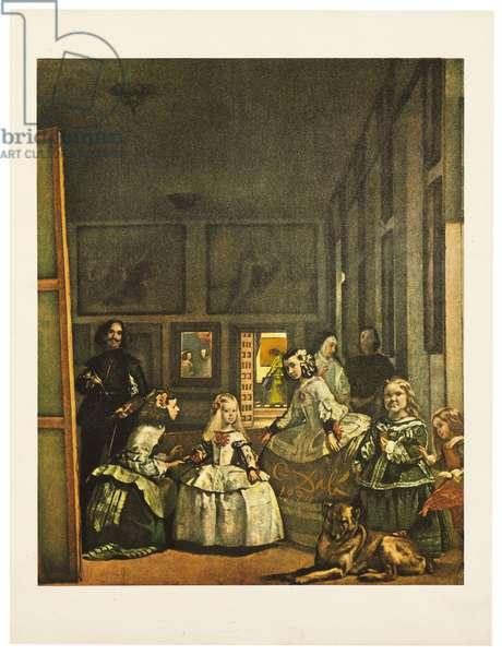 Velazquez: Las Meninas, 1974 (gouache over colour litho)
