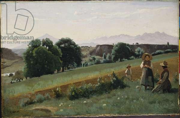 Landscape at Mornex, c.1842 (oil on canvas)