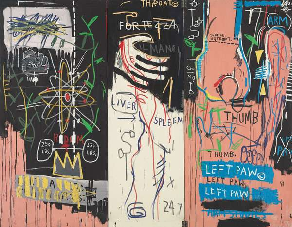 Catharsis, 1983 (acrylic and oilstick on canvas; triptych)