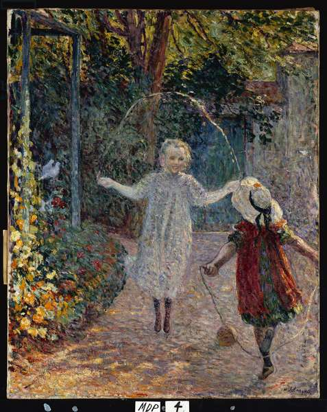 Young Girls playing in the Garden, 1899 (oil on canvas)