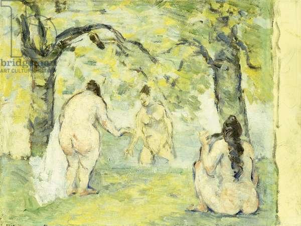 Three Bathers, 1875-77 (oil on canvas)
