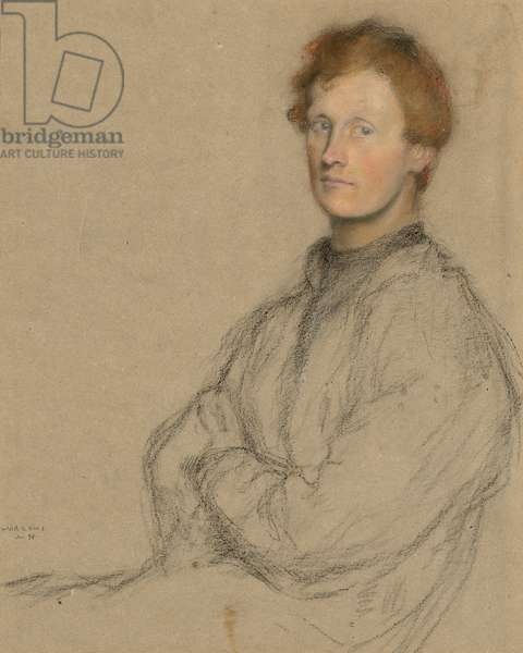Portrait of Charles Haselwood Shannon (1863-1937), 1896 (coloured chalks on grey paper)
